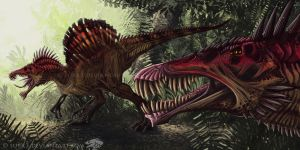 Spinosaurs by Surk3