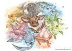 Pokemon - Eeveelutions by MarcelPerez