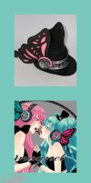 Vocaloid Magnet Top Hat by smallrinilady