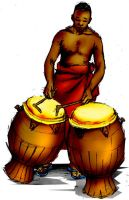 Ghanaian Talking Drum by braynx