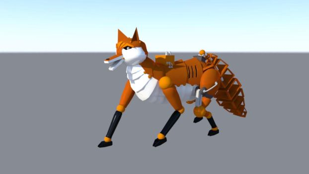 Robot Fox 1 by dragongirl117