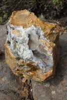 Yellow Jasper and Chalcedony by spartout