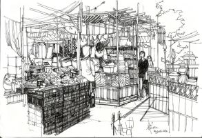 Market in the mall by SillyJellie