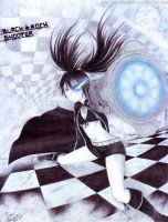Black Rock Shooter Fan Art (Ballpoint) by MikePaulWhite