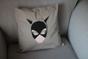Customised Catwoman Cushion Cover by Asukauk