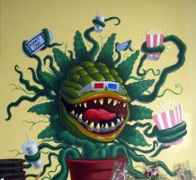 Monster Plant mural by TraderGino