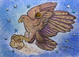 ACEO Muffinhawk by rachaelm5