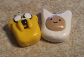 Adventure Time - Jake and Finn by ScraggyCrafts