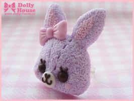 Lavender Bunny Ring by Dolly House by SweetDollyHouse
