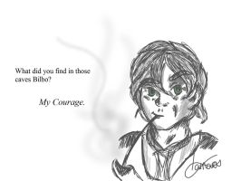 Bilbo Sketch. by PurpleWillowTrees