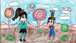 DM WIR-Agnes Meets Vanellope by Urvy1A