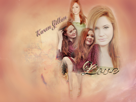 Karen Gillan Wallpaper by alitaz