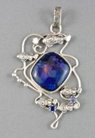 Sea theme pendant with blue sugilite by nataliakhon