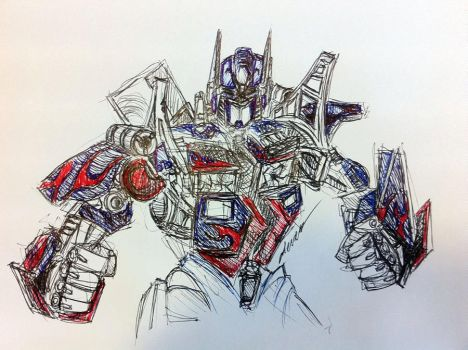 Optimus Prime Doodling by Draco2005