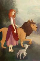 Rose, Lion, and Lamb by savivi