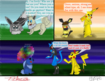 Collab: Meeting some new friends by Pikaturtle