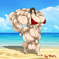 Commission - Katie muscle growth 5 by MATL