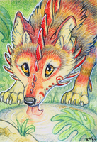 ACEO- Pit Stop by cloudstar-wolf