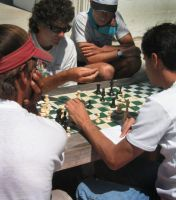 chess at beach by neuralstatic