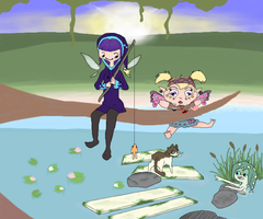 A day at the Hyrule Lake by TheDreamRunner
