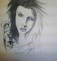 Andy Biersack WIP by Tropical-Rain