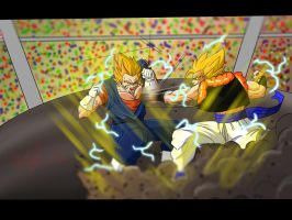 Vegetto Vs Gogeta Final Battle by francesco8657