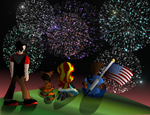 Friends and Fireworks by REMcMaximus