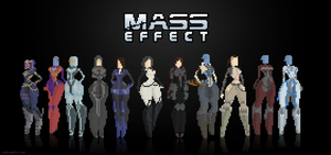 Mass Effect 8bit pixel art by izak1399