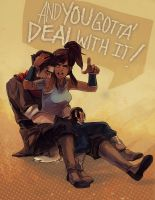 Korra - YOU GOTTA' DEAL WITH IT! by papelmarfil