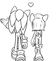 Walking and talking~[LineArt] by xLiquidSilverx