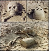 Sand sculpture 01 by AlienDrawer