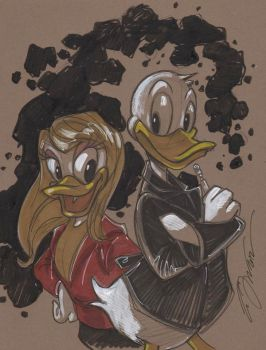 The 9th Ducktor and Daisy by Hodges-Art