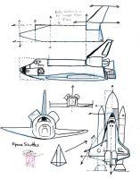Draw a Space Shuttle by Diana-Huang