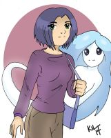 Jamie Thompson and Whisper the ghost by Koku-chan