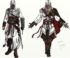 Altair and Ezio by Beaven1302