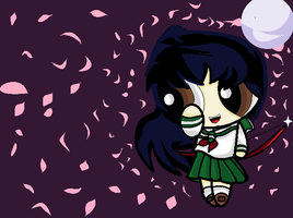 Puffed Kagome by hanyou-lover1
