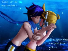 KaitoXLen In the Ocean by Sailorsaturn93