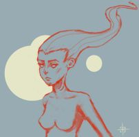 Lady moon by SHTRIPP