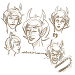 Kanaya Expression sheet by Free-Falling