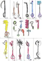 Keyblade list by darroku