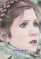 Star Wars GF S2 - Leia (Endor) Sketch Art Card by DenaeFrazierStudios