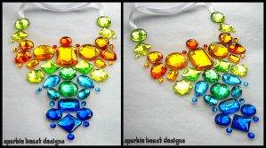Aztec Rainbow Gem Necklace by Natalie526
