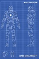 Iron Man Blueprints Mk42 by nickgonzales7