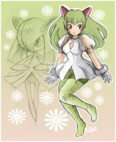 Gijinka Kirlia by dragonfly-world