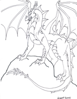 King of Legend lineart by serpentscorch3422