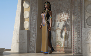 Hathor appears by AmethystPendant