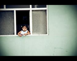 Lil' Girl at the Window by x-escapevelocity-x