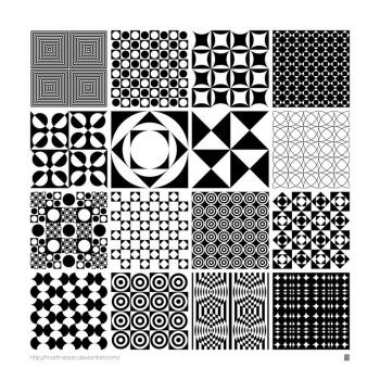 Monochrome Panton Patterns by MartinIsaac