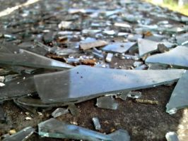 pieces of broken glass 2 by pejubo