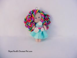 Rainbow flat figure by HopieNoelle